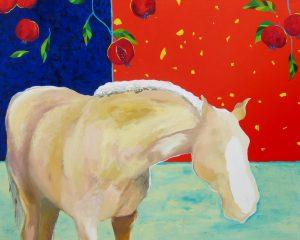 Palomino with Pomegranates by
