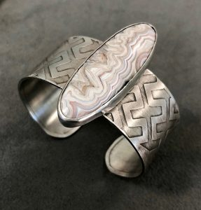 Cuff - Crazy Lace Agate by