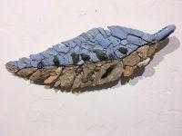 """Birds on a Wire Janice Wallake 16"""" x 5-1/2"""" mosaic $159"""