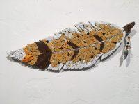"""Red Hawk Janice Wallake 16"""" x 5-1/2"""" mosaic $159"""
