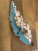 """Feather Series Wire Tree Janice Wallake 16"""" x 5-1/2"""" mosaic $159"""