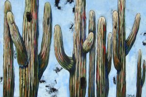"Desert Party by Diane F Barbee , 20"" x 30"", acrylic on canvas, $1200, Minimum Bid:  $600, Current Bid:"