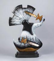 "Apache Crown Dancer Greyshoes 35"" x 15"" x 8"" bronze $9475"