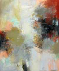 "In and Out of Time Debora Stewart 57"" x 47"" acrylic on canvas $5250"