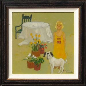 "Rachel's Yellow Dress by Jacqueline Rochester27"" x 27""oil on canvasValue:  $4500Minimum Bid:  $2250$50 incrementsCurrent Bid:"