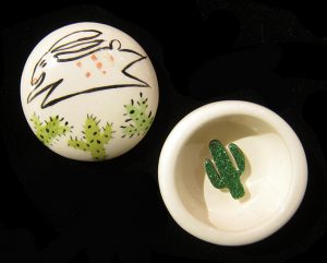 Bunny Ring Box w/ Cacti #1186 by