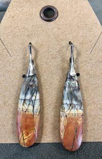 Earrings, Lever-back Maggie Roschyk Red Creek Jasper $118