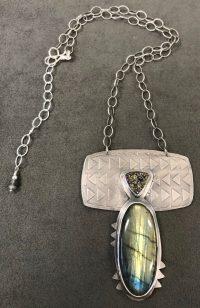 Necklace - Labradorite Maggie Roschyk Labradorite and Drusy Stones $485