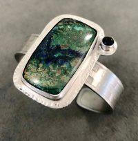 Cuff - Azurite Maggie Roschyk Azurite and Blue Sapphire $415
