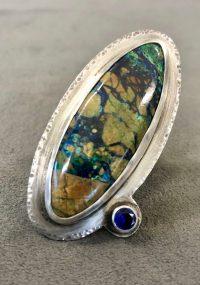 Ring - Azurite Maggie Roschyk Azurite and Blue Sapphire $322