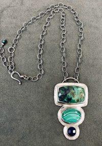 Necklace - Azuite, Malachite and lapis Maggie Roschyk Azurite, Malachite and Lapis Lazuli $375