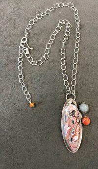 Necklace - Laguna Lake Agate Maggie Roschyk Laguna Lake Agate, Mother of Pearl $297