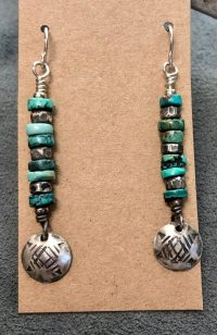 Earrings - Turquoise Dangle Maggie Roschyk turquoise $97
