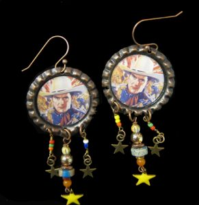 Cowboy Earrings with Dangles #1171 by