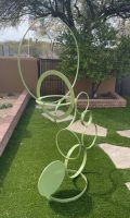 "Circular Study John Heiman 84 H x  57"" W painted steel $5700"