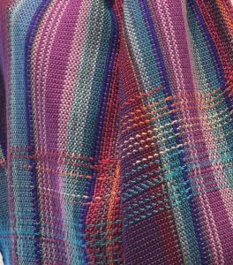 Judith Shangold Hand woven shawl detail by