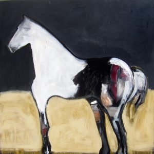 White Horse in Ochre Field I by