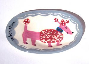 Un Bon Chien oval dish by