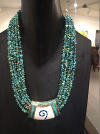 Turquoise Necklace - 9 strands Lucy Gaynor  $250