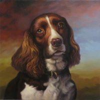 """Toby Sarah Kathryn Bean 16"""" x 16"""" oil on canvas $1100"""