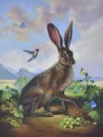 "Vineyard Visitor Sarah Kathryn Bean Framed size: 24"" x 30"" oil on panel $1700"