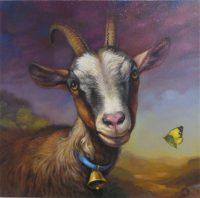 "Bramble Sarah Kathryn Bean 16"" x 16"" oil on canvas $1100"