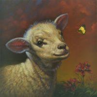 """Meadow Sarah Kathryn Bean 16"""" x 16"""" oil on canvas $1100"""