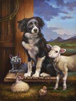 "Lucy:  The Protector Sarah Kathryn Bean 40"" x 30"" oil on canvas $3900"