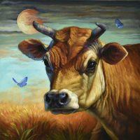 "Luna Sarah Kathryn Bean 16"" x 16"" oil on canvas $1100"