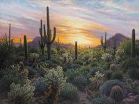 "Streaky Sunset Stephen Morath  36"" x 48"" acrylic on canvas $4700"