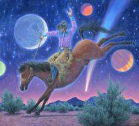 "Arena of the Stars Stephen Morath 48"" x 53"" acrylic on canvas $6900"