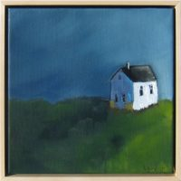 """Safe House Michelle Andres 11.5"""" x 11.5"""" oil on canvas $250"""