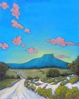 "West Texas Clouds Debbie Carroll 60"" x 48"" acrylic on canvas $5400"