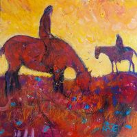 """Promise of a New Day Kate Dardine 10"""" x 10"""" acrylic on panel $395"""