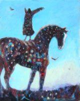 """Arise! Kate Dardine 30"""" x 24"""" acrylic on canvas $1100"""