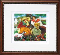 "Yes, I Remember Linda Carter Holman prints 35.5"" x 39.5"" lithograph framed $1125"