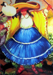"Party Linda Carter Holman prints 11.5"" x 10.25"" giclee on paper framed $195"