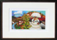 """Cloud Burst  Linda Carter Holman prints  15.5"""" x 20.5"""" giclee on paper  framed $390"""