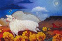 "Thunder Cloud Linda Carter Holman prints 12"" x 17"" giclee on canvas unframed $265"