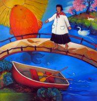 "Crossing Over Linda Carter Holman prints 14"" x 11"" paper size giclee on paper unframed $35"