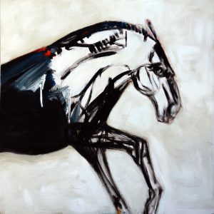 Horse in a White Field by
